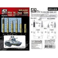 AFAG35036 Ru 76.2mm Gun Ammo Set (Brass) 1/35