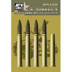 AFAG35040 Bofors 40mm Ammo (Brass) 1/35