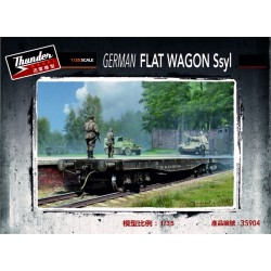 THM35904 German Ssyl Flat Wagon 1/35