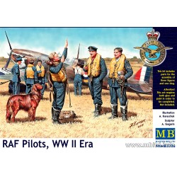 MB3206 MB Pilots RAF WW II 3 Fig+Dog 1/32
