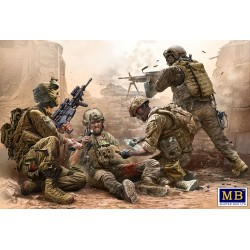 MB35193 Under Fire. Modern US Infantry 1/35