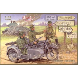 IBG35002 IBG BMW R12 with sidecar M.V. 1/35