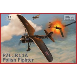 IBG72517 PZL P11a Polish Fighter Plane 1/72
