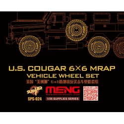 SPS-024 U.S.Cougar 6x6 MRAP Vehicle Wheel Set