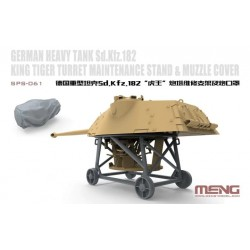 SPS-061 German Heavy Tank Sd.Kfz.182 King Tiger Turret Maintenance Stand&Muzzle Cover(Resin
