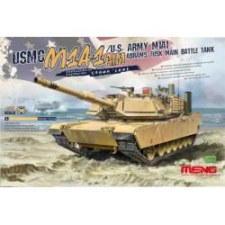 TS-032 USMC M1A1 AIM/U.S.Army M1A1 Abrams TUSK Main Battle Tank