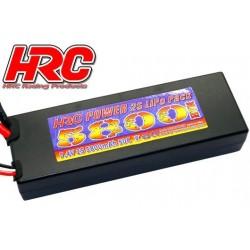 HRC02258X Accu - LiPo 2S - 7.4V 5800mAh 50C - RC Car - HRC 5800 - Prise Hard Case - XT90
