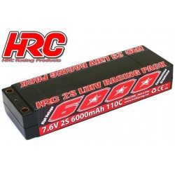 HRC02260R5 Accu - LiHV 2S - 7.6V 6000mAh 110C - RC Car - HRC 6000 Graphene - Hard Case - Prise 5mm