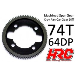 HRC764X74 Couronne - 64DP - Delrin Low Friction usiné - Ultra Light - TSW Pro Racing - Xray Pan Car – 74D