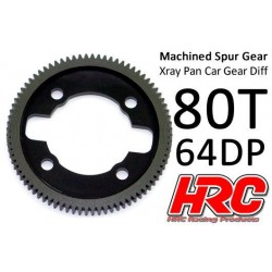 HRC764X80 Couronne - 64DP - Delrin Low Friction usiné - Ultra Light - TSW Pro Racing - Xray Pan Car – 80D