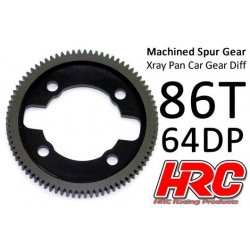 HRC764X86 Couronne - 64DP - Delrin Low Friction usiné - Ultra Light - TSW Pro Racing - Xray Pan Car – 86D