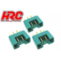 HRC9092A Connecteur - Gold - MPX - mâle (3 pces)