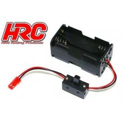 HRC9271AS Boitier de piles - AA - 4 éléments – Carré - avec connecteur BEC et interrupteur
