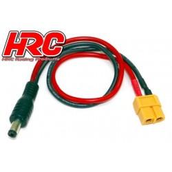 HRC9602J Câble de charge – doré - Prise chargeur XT60 à JR/Graupner Radio