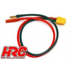 HRC9603G Câble de charge – doré - Prise chargeur XT60 à prise 4mm Male négatif / 4mm Femelle positif