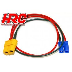 HRC9607 Câble de charge - doré - Prise chargeur XT60 à EC2