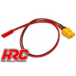 HRC9617 Câble de charge - doré - Prise chargeur XT60 à BEC JST
