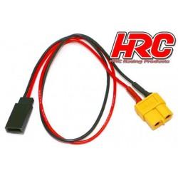 HRC9618 Câble de charge - doré - Prise chargeur XT60 à Prise JR Universelle d'accu de réception