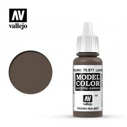 VAL70871 Cuir brun foncé