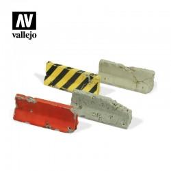VALSC215 Barrières de ciment endommagées