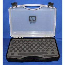 VAL70098 Mallette de transport en plastique avec incrustation de 80 espaces pour bouteilles de 17 ml