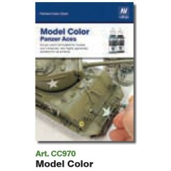 VALCC970 Tableau des couleurs peintes à la main: Couleur du modèle et Aces Panzer