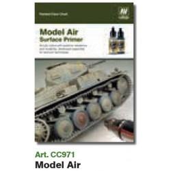 VALCC971 Tableau des couleurs peintes à la main: Modèle d'apprêt pour air et surface