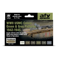 VAL71623 USMC Colors Green & Grey Patterns 1942-1945