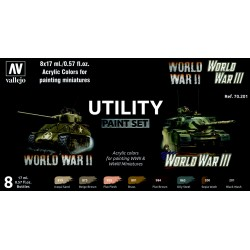 VAL70201 Utility Paint Set World War II & III (8)