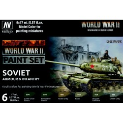 VAL70202 WWII Paint Set Soviet Armour & Infantry (6)