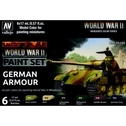VAL70205 WWII Paint Set German Armour (6)