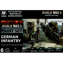 VAL70206 WWII Paint Set German Infantry (6)