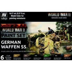 VAL70207 WWII Paint Set German Waffen SS (6)