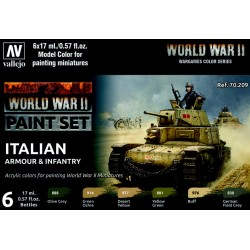 VAL70209 WWII Paint Set Italian Armour & Infantry (6)