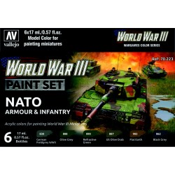 VAL70223 WW III Paint Set NATO Armour & Infantry (6)