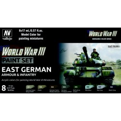 VAL70224 WW III Paint Set East German Armour & Infantry (8)