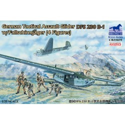 BR35039 Planeur tactique d'assaut allemand DFS 230 B-1 avec Fallschirmjäger (4 figures)