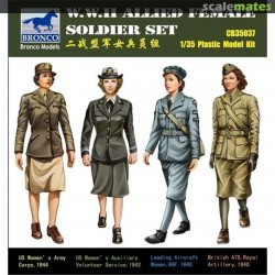 BR3537 BRONCO WWII Allied Female Sold.1/35