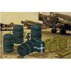 BR4020 WWII Germ.Jerry Can&Fuel Drum 1/48