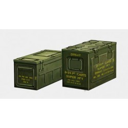 BRAB3512 BRONCO British 25 PDR Ammo Box 1/35