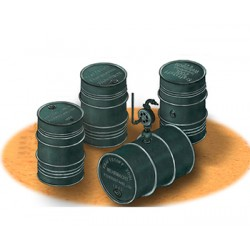 BRAB3575 German Oil Drums WWII 200L 1/35