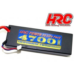 HRC02247X Accu - LiPo 2S - 7.4V 4700mAh 40C - RC Car - HRC 4700 - Prise Hard Case - XT90