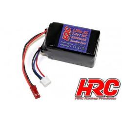 HRC06223HB Accu - LiPo 2S - 7.4V 2300mAh 20C - Accu récepteur - Hump Style - Prise BEC
