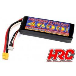 HRC06446X Accu - LiPo 4S - 14.8V 4600mAh 40C - Aircraft & FPV - HRC 4600 - Prise XT60