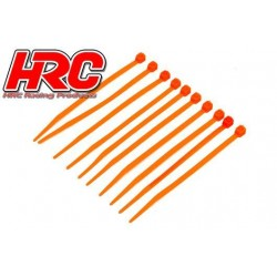 HRC5021OR Tie-Wraps - Court (100mm) - Orange (10 pces)