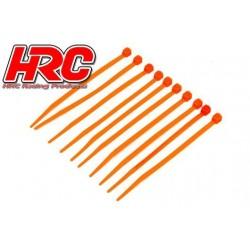 HRC5021OR Tie-Wraps - Court (100mm) - Orange (10 pces)