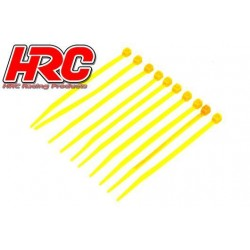 HRC5021YE Tie-Wraps - Court (100mm) - Jaune (10 pces)