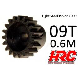 HRC71009 Pignon - 1.0M / axe 5mm - Acier - Léger - 9D