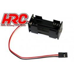 HRC9274A Boitier de piles - AAA - 4 éléments – Carré - avec connecteur JR
