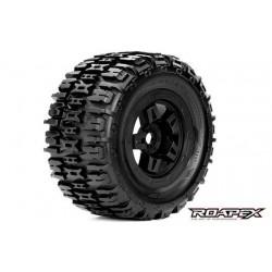 RXR4001-B Pneus - 1/8 Monster Truck - montés - Jantes noires - 17mm Hex - Renegade (2 pces)